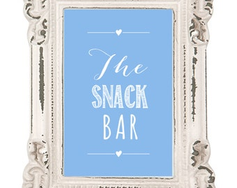 Wedding Stationery_DIY Printable Sign/Poster_The Snack Bar