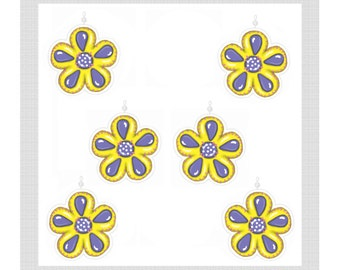 Shower Curtain Hook Ornaments..Spring Flowers.......Set of 12