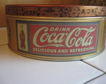 Coca Cola Tin Box Collectable Tin Can 1980s Tin Box