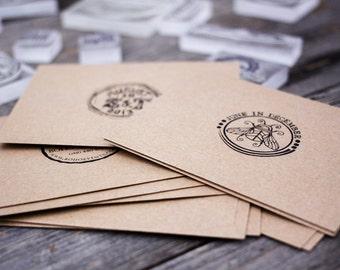 "Reserved - Three Custom Logo Stamps ( All 3"" x 3"" )  - Custom Stamp - Custom Logo Stamp - Gift Stamp - Unique Custom Stamp"