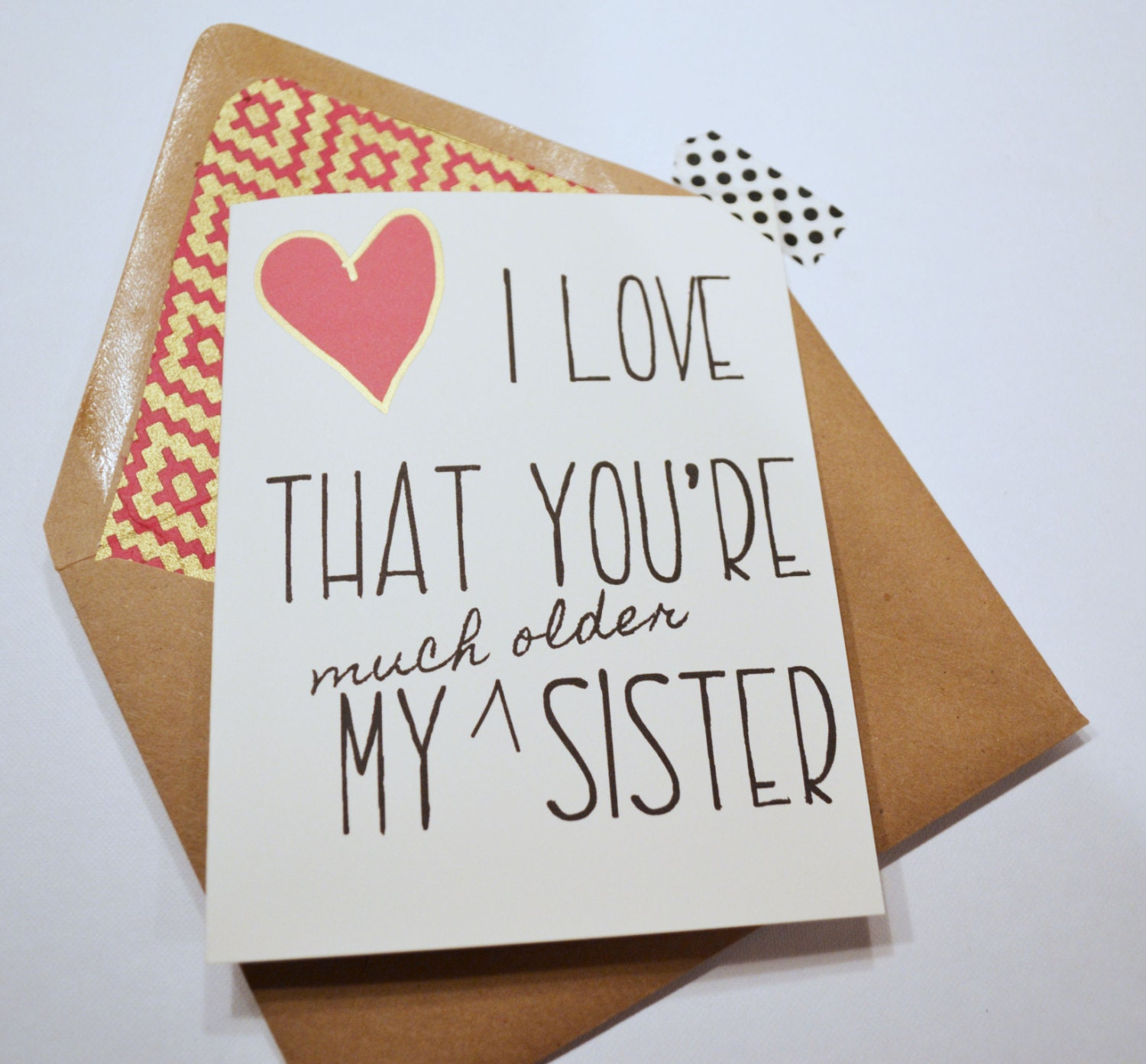Sister Birthday Card Older Sister Birthday Card Family
