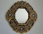 Reversed Glass Painting Mirror / Peruvian Art / Colonial Art