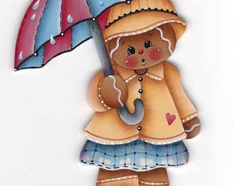 Rainy Day Gingerbread Painting E-Pattern