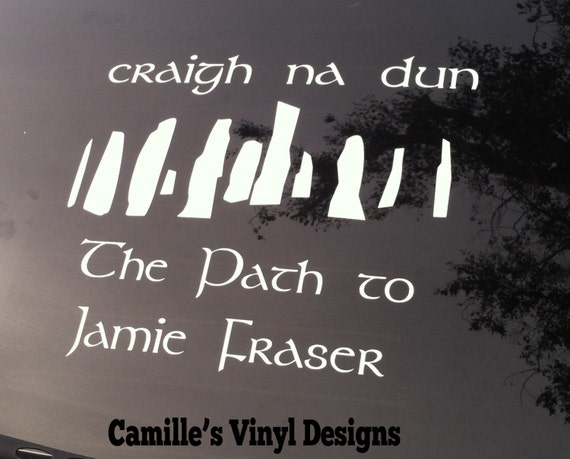 Outlander Craigh na Dun Car Laptop Vinyl Decal Sticker Jamie Fraser Diana Gabaldon Geek Book Scotland Reader Addict