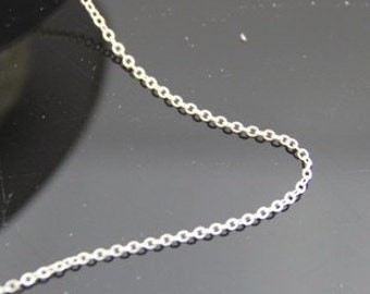 6 meters of O shape brass chain 1mm -9904-Matte silver