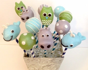 Baby Animals, Polka Dots and Stripes Cake Pops (Regular or Gluten Free)