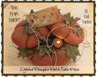 Primitive Pumpkin Pattern The Prim Patch Lighted Pumpkin Patch Fall Halloween Pattern