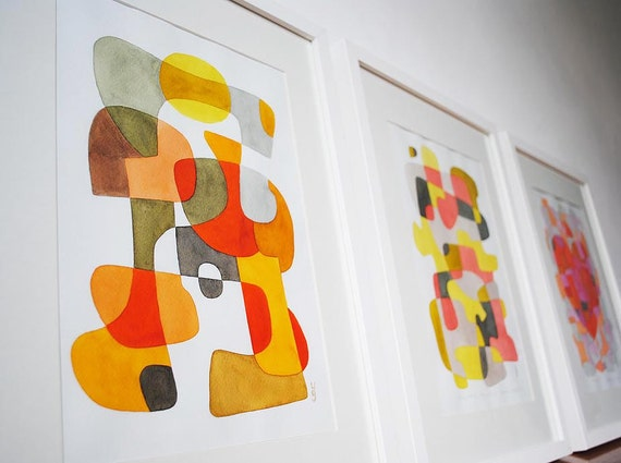 20% OFF: ANY 3 Art Prints of Your Choice - Mid Century Modern Art 8 x 10