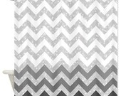 Grey Chevron Shower Curtain - Ornaart Design