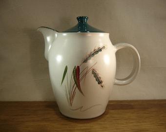 Vintage 1960s Denby Greenwheat coffee pot