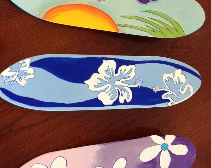 Set of 3 Miniature Wood Surfboards - Great for a Beach Party or a Birthday Party