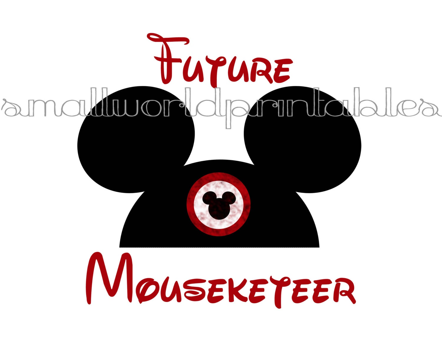 INSTANT DOWNLOAD Future Mouseketeer hat Iron on for Maternity
