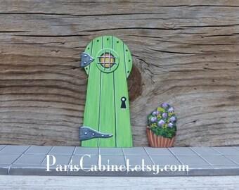 Green fairy keyhole door miniature elf gnome little people for My little magic door