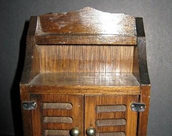 Dollhouse Furniture Wood Hutch Cabinet