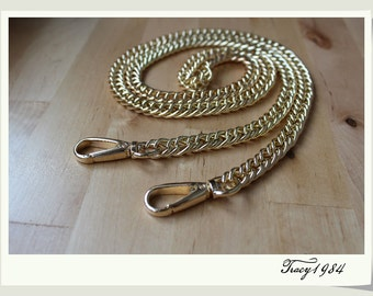 Gold Color Chain Bag Purse Chain, 1cm or 0.39 inch wide