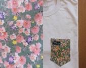 Leo's Floral Paige's Pocket Tee Shirt