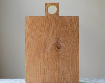 Simple modern kitchen cutting and cheese board