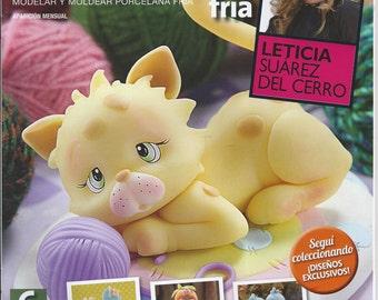 Cold Porcelain Magazine 6 (2013) by Leticia Suarez del Cerro (Spanish) Porcelana fria, Biscuit, Air Dry Clay, Cold Porcelain, Porcelanicron