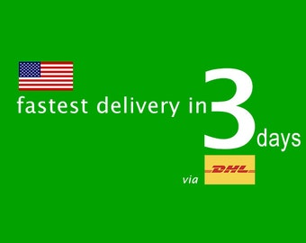 US ONLY Express Shipping Upgrade, via DHL, Delivered in 3 ~ 5 days