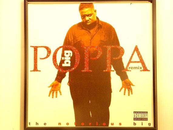 Glittered Record Album - The Notorious Big - Big Poppa Remix