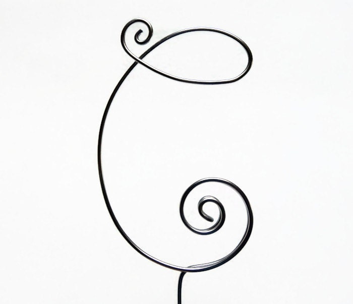 Wire Monogram Initial Cake Topper 4 or 5 Inch- Your Choice of Letter ...