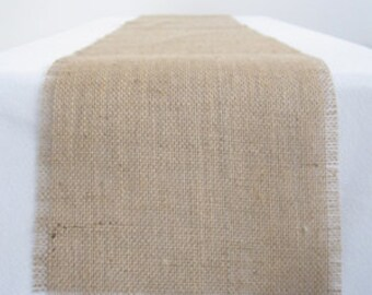 burlap table runner, ships in two days