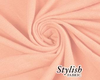 Blush Cotton Lycra Jersey Knit Fabric Combed 7oz by the Yard Cotton Stretch Jersey Knit by the yard - 1 Yard Style 477