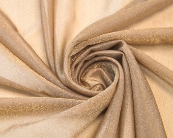 Taupe/gold Light Iridescent Fabric by the Yard - 1 Yard Style 6093