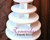 Cupcake Stand 5 Tier Round White Melamine Cupcake Tower Display Stand Birthday Stand Wedding Stand
