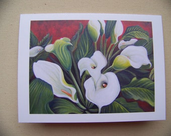 """flower greeting card """"a new day"""""""