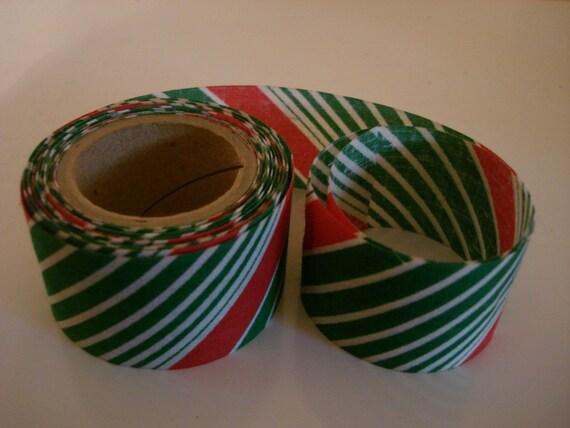 Vintage christmas fabric ribbon over 5 yards craft supplies for Vintage christmas craft supplies