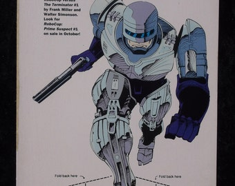 Vintage Original 1992 Robocop Miniature Promotional Standee/Standup by Dark Horse Comics