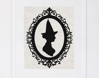 Witch Silhouette, Halloween Printable