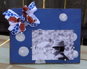 Blue and White 5x7 picture frame