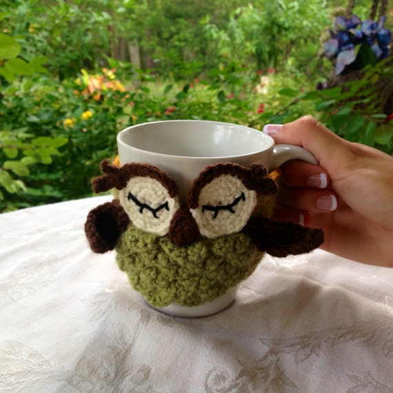 Owl Coffee Cozy Green - Other colors available