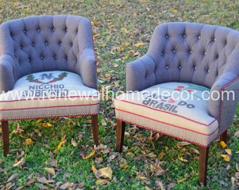 Custom Club Chairs tufted club chair | etsy