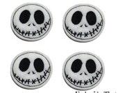 UNCUT EXCLUSIVE Spooky Face machine embroidered felt applique embellishments (4)