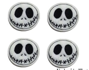 UNCUT EXCLUSIVE Spooky Face machine embroidered felt applique embellishments (4)