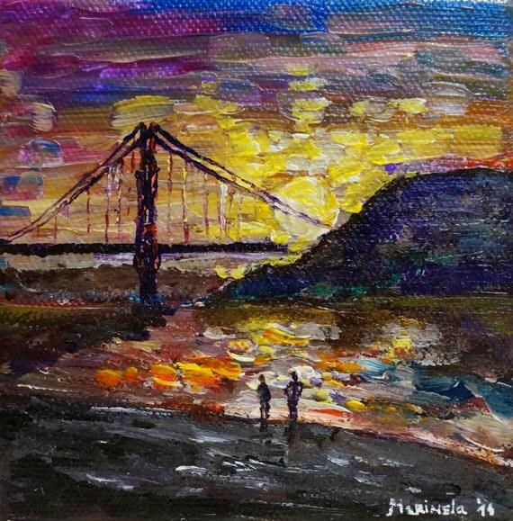 Golden Gate Bridge San Francisco California Sunset Picture: Colorful Sunset At Golden Gate Bridge San Francisco California