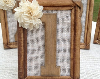 Rustic Wedding Table Numbers - Shabby Chic Wedding - Picture Frame Table Numbers - Wedding Table Numbers - Table Numbers Table Number Frames