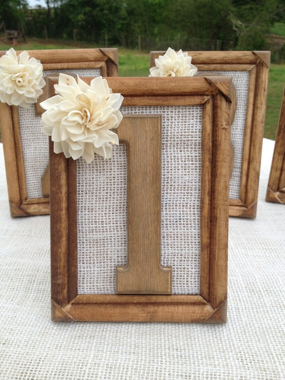 Items Similar To Rustic Wedding Table Numbers