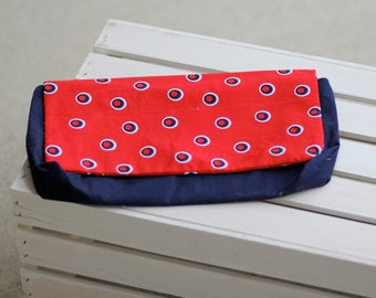 USA Polka Dot Soft Cotton Clutch