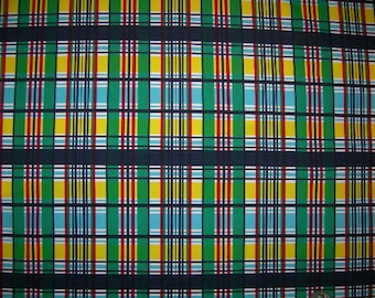 """Plaid Lycra Fabric Lycra fabric Colorfast fabric Swim lycra fabric Designer lycra fabric 50"""" wide sold by the yard continuous.Lycra Spandex"""