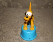 Vintage PLUTO Push-up Puppet Toy by Walt Disney Production Made in Hong Kong