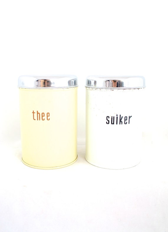 retro white kitchen canisters set tea canister sugar canister