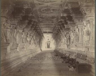 Narayana Gosain Temple interior Odisha antique photo India