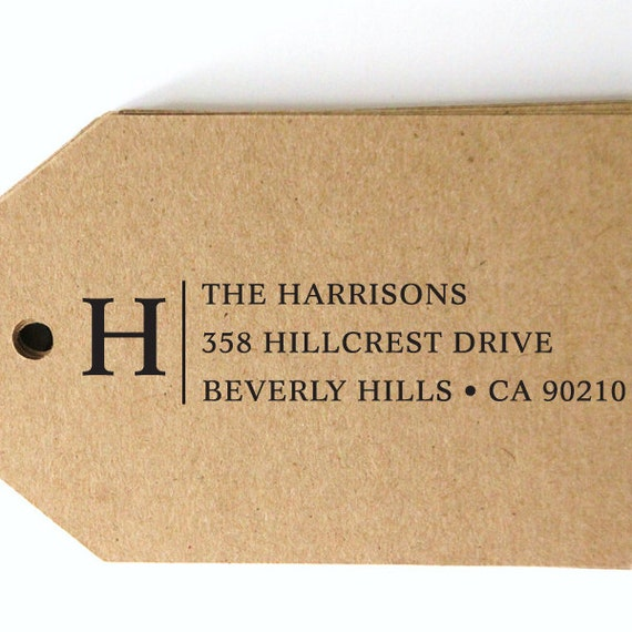 custom ADDRESS STAMP with PROOF, personalized pre inked address stamp, pre inked custom address stamp, return address stamp - Stamp b5-36