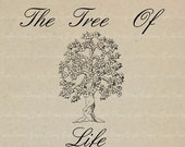 The Tree Of Life - No.MJ84 - Digital Image, Printable Clipart, Iron on Transfer for Fabric, Pillows, Towels, Scrapbooking Craft