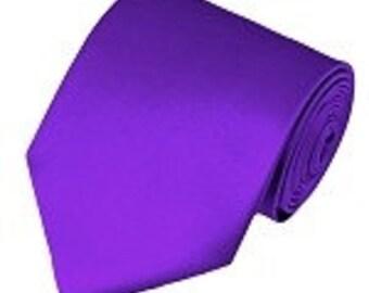 mens Plum Purple necktie custom made many colors