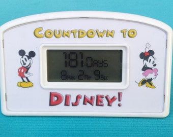 Disney Countdown Clock - Classic Mickey - Classic Minnie - Battery Operated